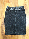 Hardtail black denim pencil skirt