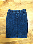 Hardtail denim pencil skirt