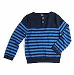 egg baby striped knit in blue